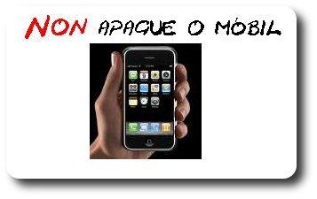 Recoméndase non apagar o mobil